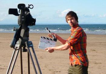 Filming on Hollywood Beach