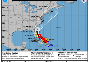 Tropical Storm Isaias.